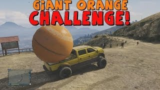 Grand Theft Auto 5 The Giant Orange Ball Challenge