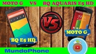MOTOROLA MOTO G VS BQ AQUARIS E5 HD