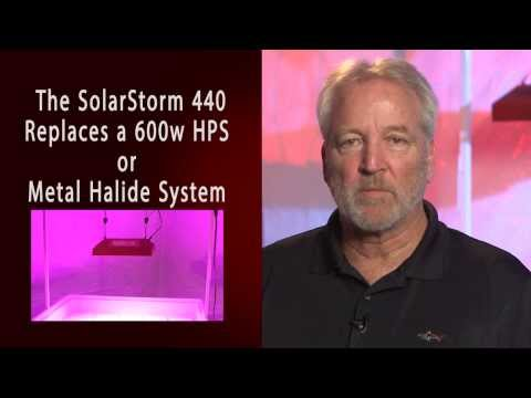 New SolarStorm 440:  Powerful LED grow light with UVB