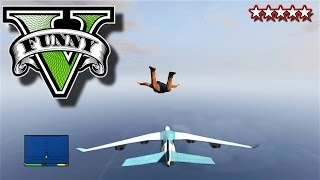 GTA 5 Funny Moments - CARGO PLANE SEX GTA - LANDING ON A PLANE Grand Theft Auto 5