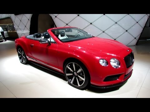 Continental GTC car - Color: Red  // Description: beautiful