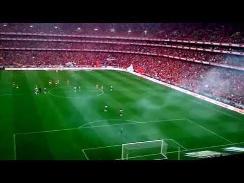 Benfica 2-0 Olhanense - Festejos dos golos nas bancadas
