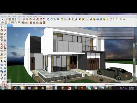 Google Sketchup Tutorial Daytime Vray Exterior Setting