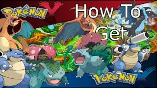 How To Get: All 3 Mega Stones For Kanto Starters In
