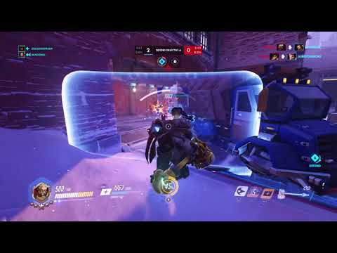 Overwatch Competitive Reinhardt Gameplay 23-3