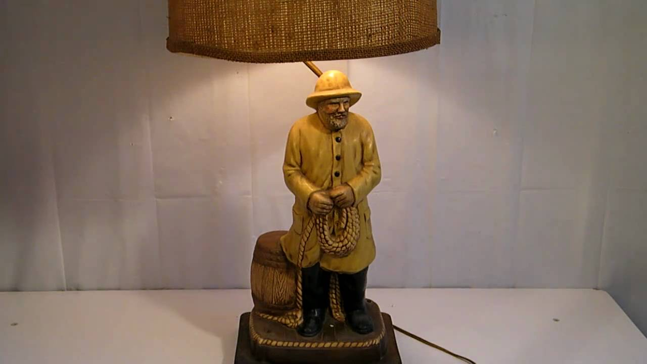 VINTAGE NAUTICAL FISHERMAN SEA CAPTAIN LAMP - YouTube