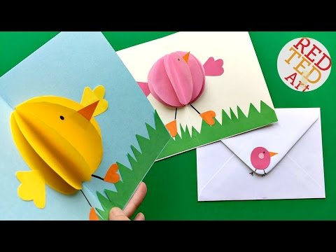 Easy Pop Up Chick Card - 3D Easter Card DIY - Cute & Easy