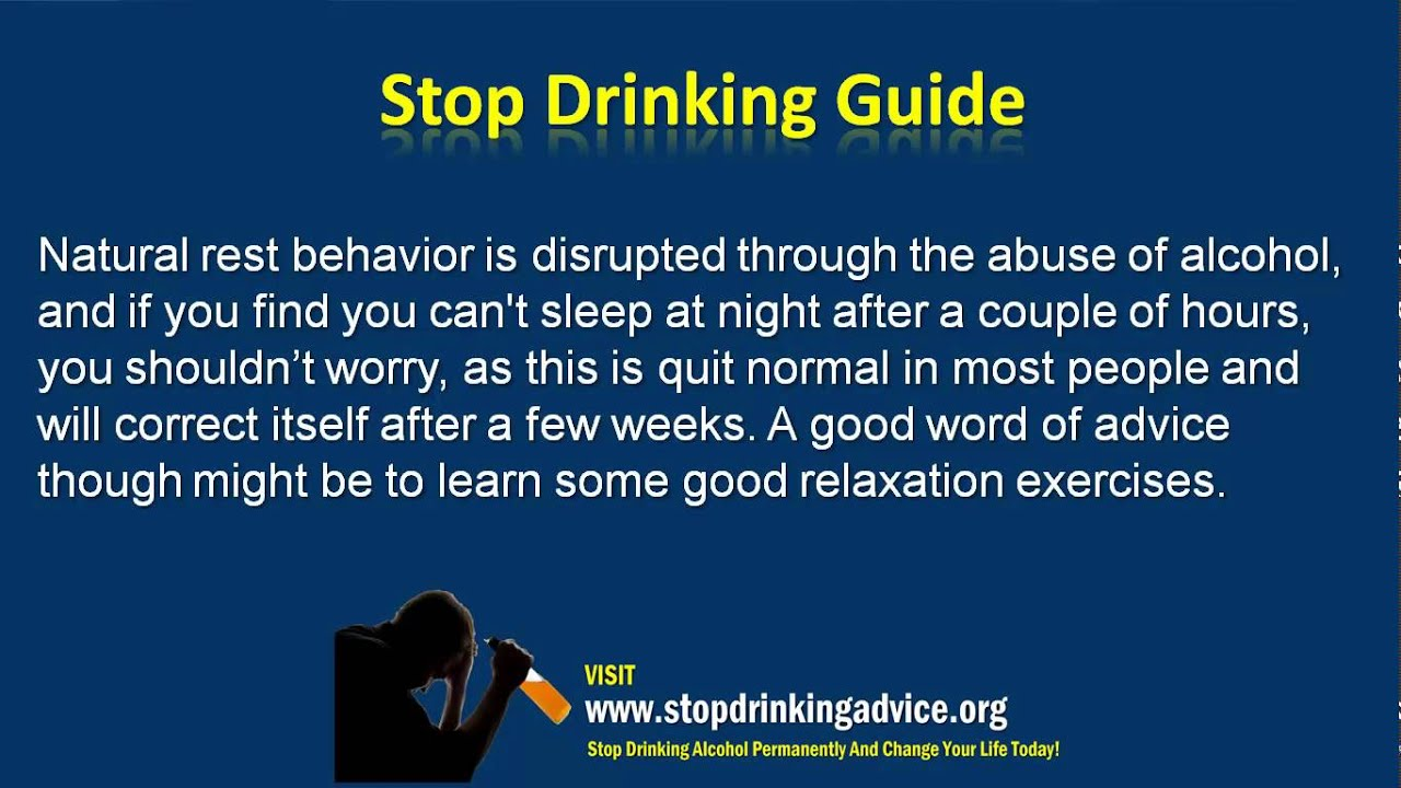 Quit Drinking To Stop Depression