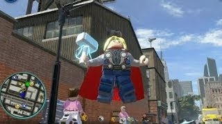 LEGO Marvel Super Heroes (PS4) Thor Free Roam Gameplay