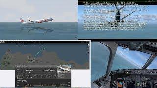ilustrasi Full detik-detik Flight JT-610 Lion Air jatuh, Simulasi cockpit view [FSX Simulator]