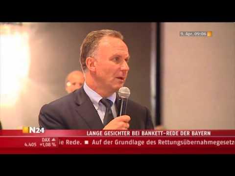 Krise bei Bayern, Bankett-Rede von Karl-Heinz Rummenigge, FC Barcelona - Bayern München 4:0
