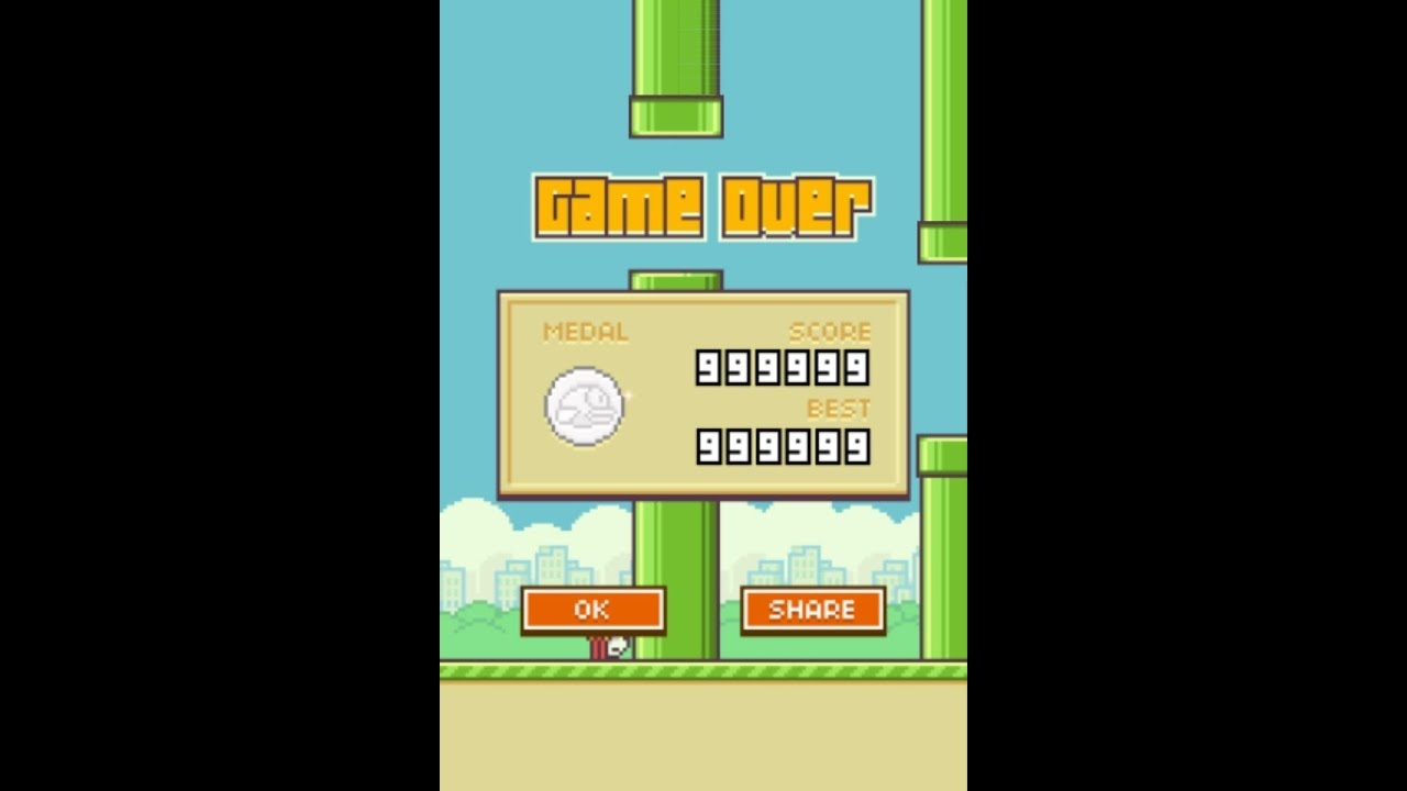 flappy bird high score 999   bug game   youtube