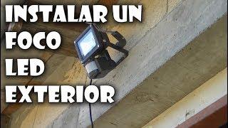 Instalar lámpara con sensor de movimiento