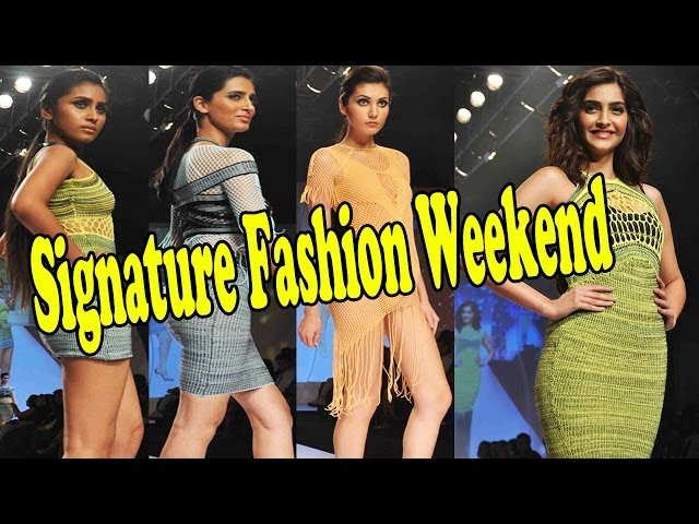 Hot Sonam Kapoor With Sexy Models On Ramp For Signature Fashion Weekend