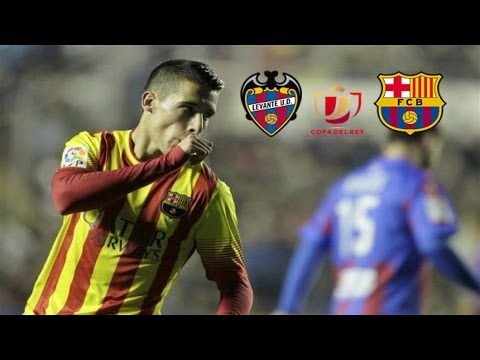 Levante vs FC Barcelona 23.01.2014 (Copa del Rey) 1-4 all goals and highlights vk.com/ea.fifa15