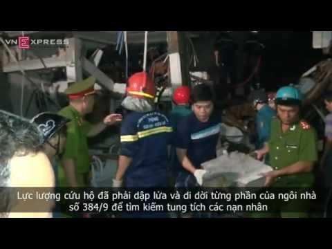 Bốn căn nhà ở quận 3 - tp Hồ Chí Minh bị sập sau một tiếng nổ lớn