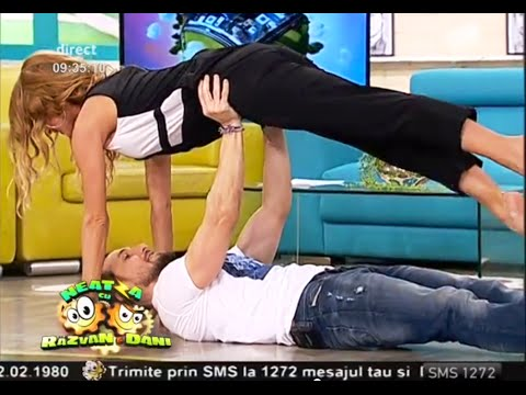 Dani și Flavia, acrobații în aer!