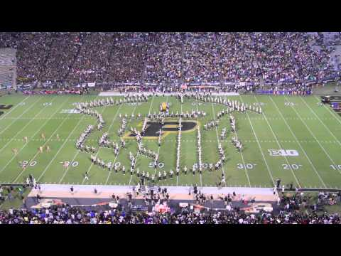 Purdue All-American Marching Band Pre-game Show 2013