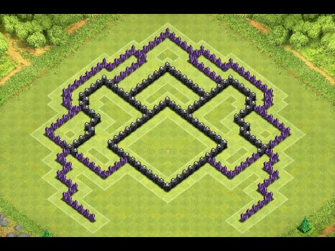 Th8 trophy base 4 mortars southern teaser clash of clans th8 troph