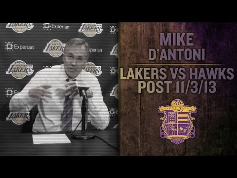 Lakers Vs Hawks: Mike D'Antoni On Chris Kaman, Pau Gasol and Difficulty In Finding Guys Minutes