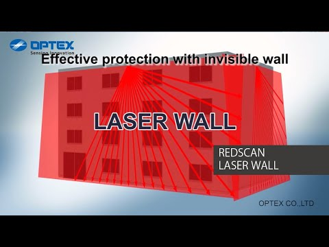 Optex REDSCAN laser wall