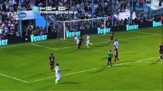 Atajada de Marchesín. Rafaela 0 - Lanús 0. Fecha 2. Torneo Primera División 2014. FPT