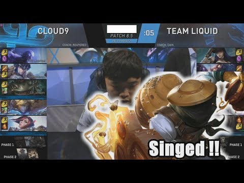 Impact Locked In Singed - TL VS C9 Game 2 Highlights - 2018 NA LCS Spring Quarterfinals