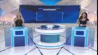 Silvio Santos se surpreende com transexual Thalita Zampirolli