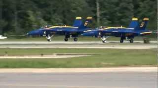 BlueAngels #5 Hit His Engine Noosle Against The Runway