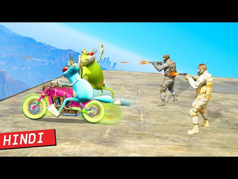 OGGY Rescue Jack 🌟 from Military Experiment | GTA 5 Hindi Funny Moments | GGMonFire