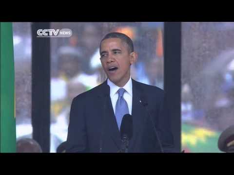 Mandela's Memorial Service: Barack Obama paying tribute to Nelson Mandela