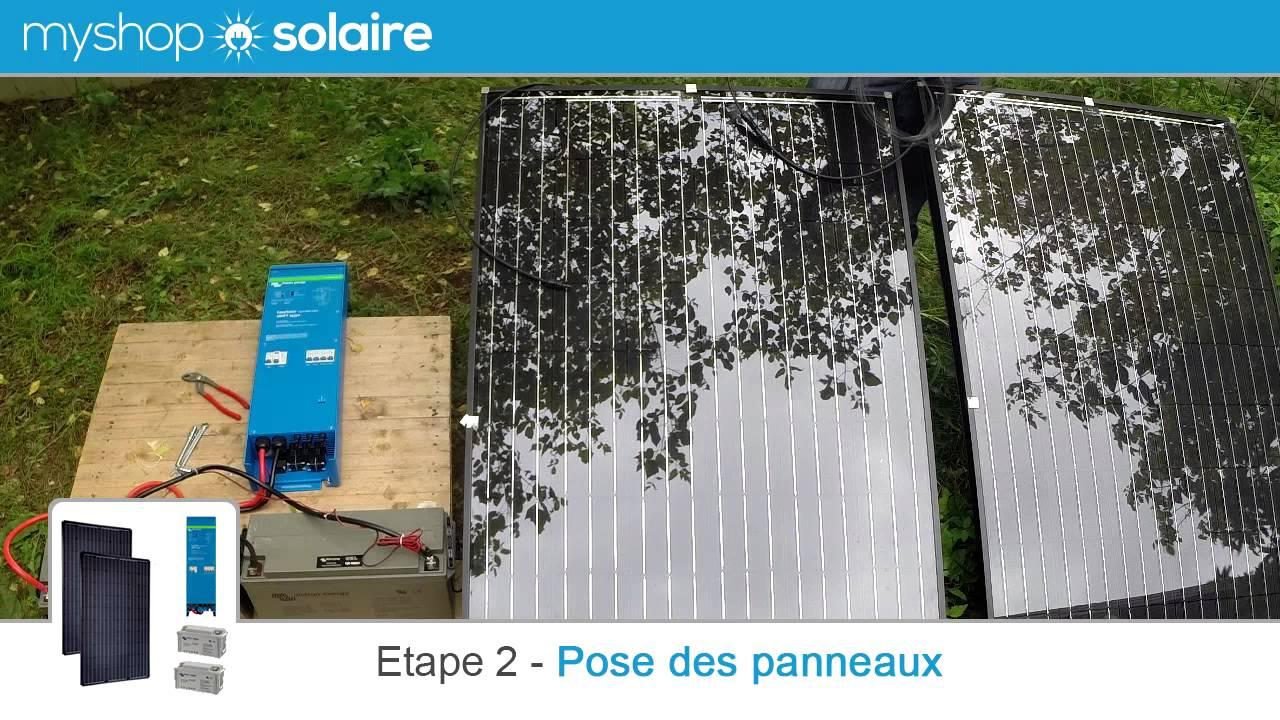myshop solaire montage d 39 un kit panneau solaire 500w autonome 24v avec easysolar youtube. Black Bedroom Furniture Sets. Home Design Ideas