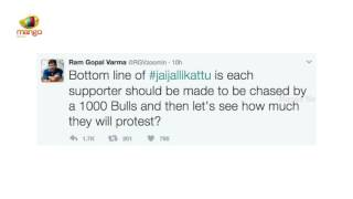 RGV Tweets Opposing Jallikattu : Slams Celebrities, Suppo..