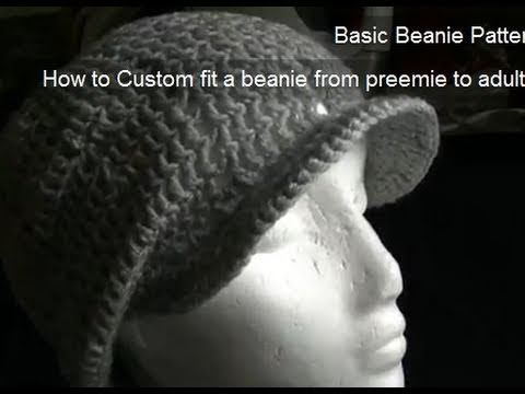 Eyelet Beanie - Includes Brim Tutorial Part 2 of 2