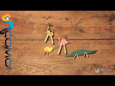 Animales con pinzas, una manualidad muy creativa
