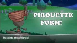 Pokemon X And Y How To Get Meloetta Pirouette Form