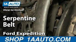 How To Install Replace Serpentine Belt Ford F-150