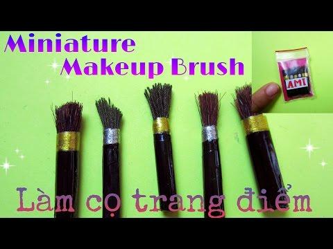 REAL Miniature Makeup Brush Set | 2 cách làm cọ trang điểm thu nhỏ (sử dụng thật) | Ami DIY