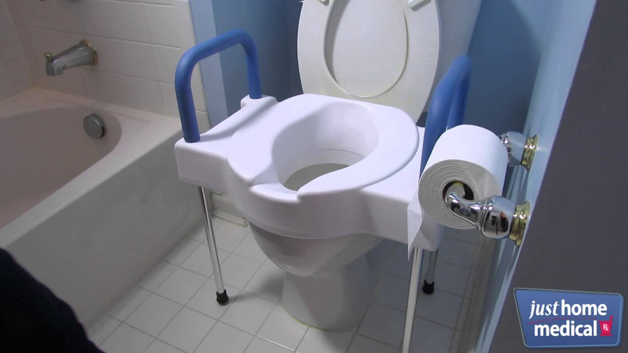 Just Home Medical Extra Wide Tall Ette Elevated Toilet