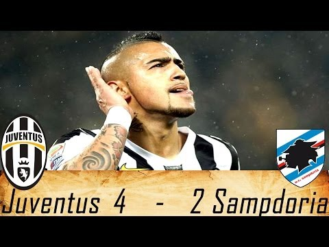 Juventus-Sampdoria 4-2 Highlights 19/01/2014