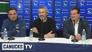 Canucks Management Comment on Sedin Retirement (April 2, 2018)