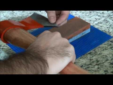 Método simples para afiar um machado ou machadinha
