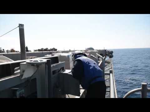 140314-N- XI307-004: USS George H.W. Bush (CVN 77) Receives Replenishment-at-Sea