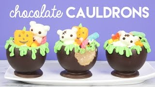 How to Make Edible Halloween Cauldrons!