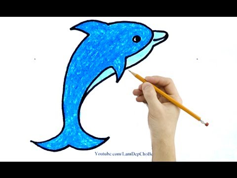 Vẽ Tranh Cá Heo - How To Draw The Dolphin
