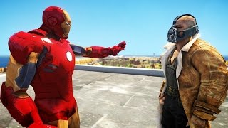 IRON MAN VS BANE EPIC BATTLE GTA IV