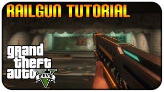 GTA 5 (XBOXONE/PS4) NEW! RAIL GUN TUTORIAL LOCATION HOW TO