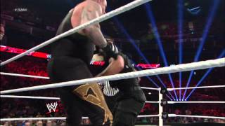 Team Hell No & The Undertaker Vs. The Shield: Raw, April