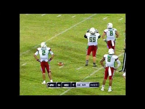 IFAF U19 World Champion KUWAIT 2014: Japan vs Mexico