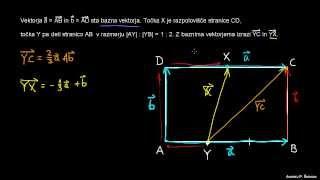 Bazni vektorji – primer